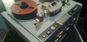 Damn fine 2 inch tape machine we recorded on to. 3 takes then pick your best one..phew!