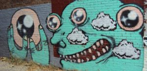 Eyeball Graffiti — at East Biddle Street