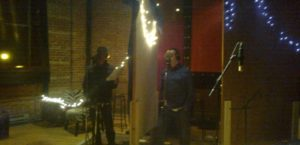 Phil and John doing vocal takes